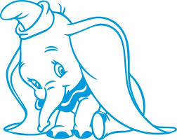 Window Wall Display Dumbo The Flying Elephant Contour Cut Decal Vinyl Sticker B