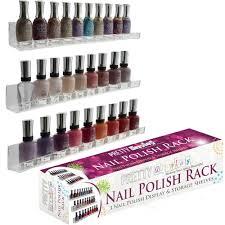 acrylic nail polish rack wall mount