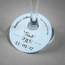 formal text plantable wine glass tags
