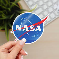 Blue Nasa Vinyl Sticker Space Vinyl Stickers Nasa Decal Etsy