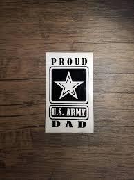 Proud Army Dad Window Vinyl Decal Us Army Dad Sticker Etsy