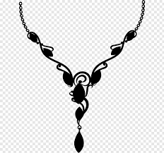 metal necklace pendant black white m