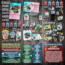 Kit Imprimible Moana Rosa Cumpleanos Bautismos Candy