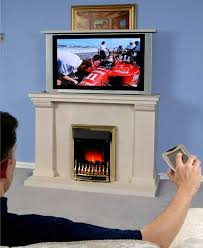 classic tv fireplace to conceal your tv