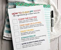 How To Clean Your Room Printable