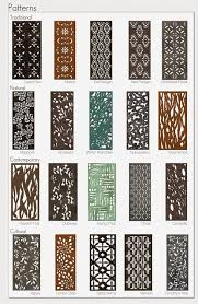 20 Parasoleil Patterns In Several Finishes For Aluminum Copper Wood Steel Decorative Screens Metal Screen Fence Art