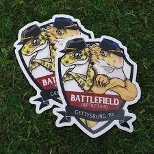 Vinyl Decal Battlefield Reptile Expo