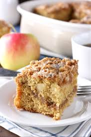 cinnamon swirl apple coffee cake whole