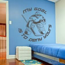Goalie Hockey Wall Decal Large Decal Custom Name Decal Boys Room Children Decor Boy Bedroom Decal Kids Sports Hockey Bedroom Kids Sports Room Sports Room