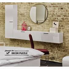 modern white dressing table with mirror