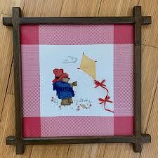 Paddington Bear Wall Art Counted Cross Stitch Kite Picture Poshmark
