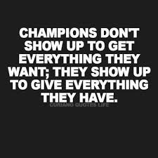champions don t show up thank you quotes coach