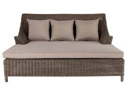 double day bed rattan