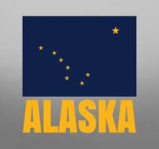 Alaska State Flag Vinyl Sticker Tenstickers