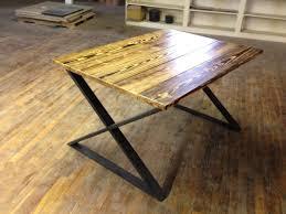 rustic table legs square metal