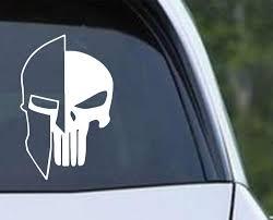 Molon Labe Punisher Spartan Helmet Die Cut Vinyl Decal Sticker Decals City