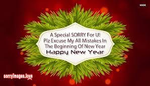 happy new year sorry quotes status