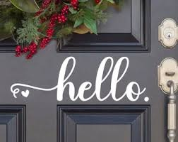 Hello Door Decal Etsy
