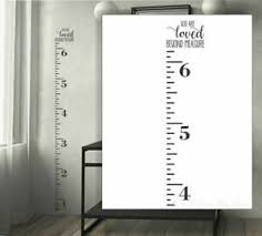 Height Ruler Growth Chart Wall Decal Loved Beyond Measure Art Stickers Opt 1 Ebay