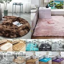 1pcs Fluffy Round Rug Carpets For Living Room Decor Faux Carpet Kids Room Lon Be For Sale Online Ebay