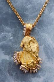 gold nugget pendants