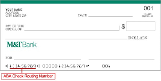 bank account routing number