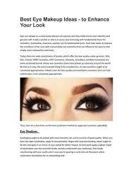 best eye makeup ideas to enhance your