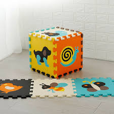 Baby Puzzle Jigsaw Floor Mats Eva Foam Play Mat With Fence Thick Carpet Pad Toys For