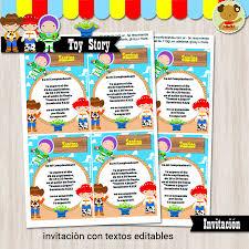 Toy Story Invitacion Textos Editables