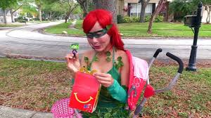 McDonald Drive Thru w- Baby Snow White, Poison Ivy, Hulk funny superhero  video in real life - video dailymotion