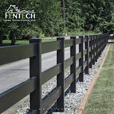 Fentech 3 Rails Black Plastic Pvc Vinyl Cheap Farm Fence Buy Cheap Farm Fence Viinyl Fence Pvc Fencing Product On Alibaba Com