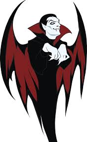 Creepy Dracula Vampire With Bat Wings Vinyl Decal Sticker Shinobi Stickers