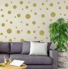 Create A Mural Polka Dot Wall Stickers Wall Decor Stickers Wall Dots Vinyl Circle Room Dot Decals Wall Art Stickers For Bedroom Girls Room Peel And Stick Kids Room Decor Birthday Gift Gold