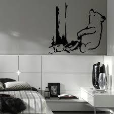 Large Banksy Pooh Bear Trap Bedroom Wall Art Sticker Transfer Vinyl Decal Giant Bespoke Graphics