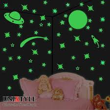Personalized Glow In The Dark Decal Stars Name Kids Room Etsy