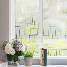 Window Film Privacy White Cross Self Adhesive Frosted Window Vinyl Removable Static Cling Glass Sticker Opaque Window Decal Decorative Films Aliexpress
