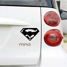 Amazon Com Batman Wall Decal Sticker Funny Logo Superman And Batman Decoration Sticker Car Whole Body Decal For Bmw Benz Audi Fiat Toyota Kia Honda Tesla Car Stickers Home Kitchen