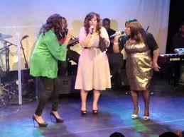 Lurine Cato, Priscilla Jones-Campbell & Hildia Campbell sing ...