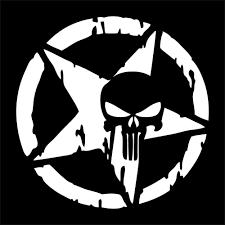 Auto Punisher Star Skull Head Pentagram Car Sticker Refit Vinyl Reflective Decal Truck Window 13x13cm Car Accessories Shop The Nation In 2020 Punisher Skull Decal Skull Decal Punisher