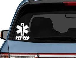 Amazon Com Stickerloaf Brand Star Of Life Retired Car Truck Laptop Decal Sticker Decals Sticker Firefighter Medic Emt Ems Rescue Fire Paramedic Kitchen Dining