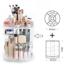 360 rotating acrylic makeup organiser
