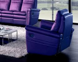 purple leather coaster swivel chair