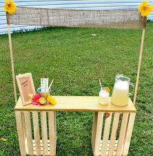 diy lemonade stand made with wooden