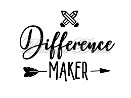 Teacher Decals Difference Maker Vinyl Decal Or Mug Wine Glass Decal Size And Colour Options Available