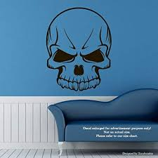 Amazon Com Evil Skull Wall Decals Skull With Fangs Stickers Decorative Design Ideas For Your Home Or Office Walls Removable Vinyl Murals Ec 1267 Arts Crafts Sewing