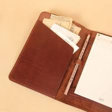 travel leather portfolio folio notebook