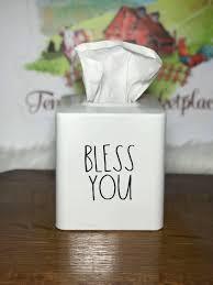 Bless You Tissue Box Cover Farmhouse Decor Tissue Box Etsy Tissue Box Covers Home Decor Farmhouse Decor