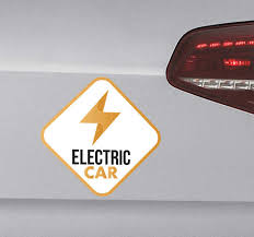 Electric Car Vinyl Sticker Tenstickers