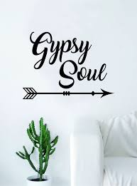 Gypsy Soul Wall Decal Home Decor Room Bedroom Art Vinyl Sticker Quote Boop Decals
