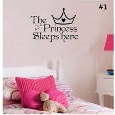 The Princess Sleeps Here Wall Say Quote Word Lettering Art Vinyl Sti Nicerin Best Goods Free Shipping